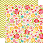 Echo Park - Summer Bliss Collection - 12 x 12 Double Sided Paper - Summer Floral