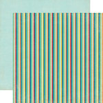 Echo Park - Scoot Collection - 12 x 12 Double Sided Paper - Stripes
