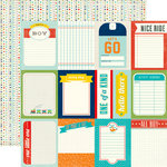Echo Park - Scoot Collection - 12 x 12 Double Sided Paper - 3 x 4 Journaling Cards