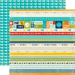 Echo Park - Scoot Collection - 12 x 12 Double Sided Paper - Scoot Border Strips