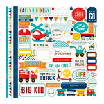 Echo Park - Scoot Collection - 12 x 12 Cardstock Stickers - Elements