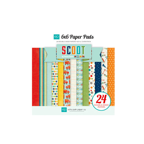 Echo Park - Scoot Collection - 6 x 6 Paper Pad