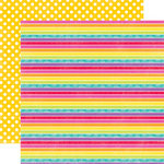 Echo Park - Summer Days Collection - 12 x 12 Double Sided Paper - Rainbow
