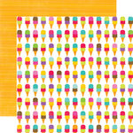 Echo Park - Summer Days Collection - 12 x 12 Double Sided Paper - Ice Cream