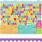 Echo Park - Summer Days Collection - 12 x 12 Cardstock Stickers - Alphabet