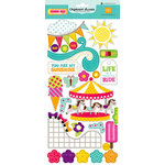 Echo Park - Summer Days Collection - Adhesive Chipboard - Shapes, BRAND NEW