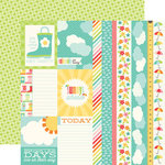 Echo Park - Sunny Days Ahead Collection - 12 x 12 Double Sided Paper - Sun Ahead