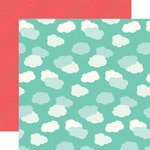Echo Park - Sunny Days Ahead Collection - 12 x 12 Double Sided Paper - Clouds