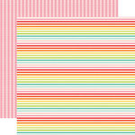Echo Park - Sunny Days Ahead Collection - 12 x 12 Double Sided Paper - Rainbow Stripe