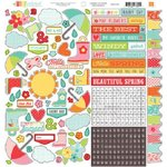 Echo Park - Sunny Days Ahead Collection - 12 x 12 Cardstock Stickers