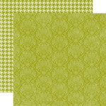 Echo Park - Runway Collection - 12 x 12 Double Sided Paper - Green Damask