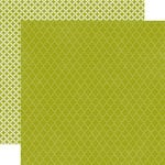 Echo Park - Runway Collection - 12 x 12 Double Sided Paper - Green Quatrefoil