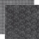 Echo Park - Upscale Collection - 12 x 12 Double Sided Paper - Black Damask