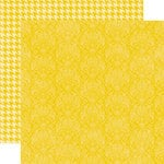 Echo Park - Upscale Collection - 12 x 12 Double Sided Paper - Yellow Damask