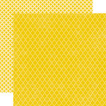 Echo Park - Upscale Collection - 12 x 12 Double Sided Paper - Yellow Quatrefoil