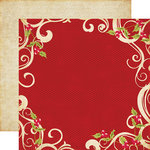 Echo Park - Season's Greetings Collection - Christmas - 12 x 12 Double Sided Paper - Swirls