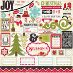 Echo Park - Season's Greetings Collection - Christmas - 12 x 12 Cardstock Stickers - Elements