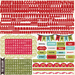 Echo Park - Season's Greetings Collection - Christmas - 12 x 12 Cardstock Stickers - Alphabet