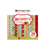 Echo Park - Season's Greetings Collection - Christmas - 6 x 6 Paper Pad