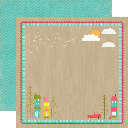 Echo Park - So Happy Together Collection - 12 x 12 Double Sided Paper - Neighborhood