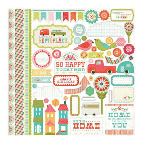 Echo Park - So Happy Together Collection - 12 x 12 Cardstock Stickers - Elements