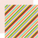 Echo Park - Simple Life Collection - 12 x 12 Double Sided Paper - Simple Stripe