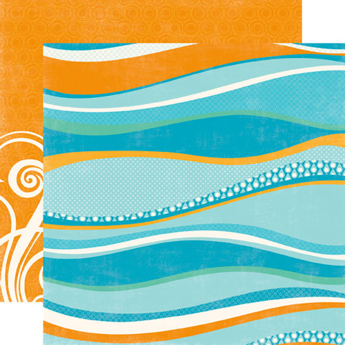 Echo Park - Splash Collection - 12 x 12 Double Sided Paper - Big Waves
