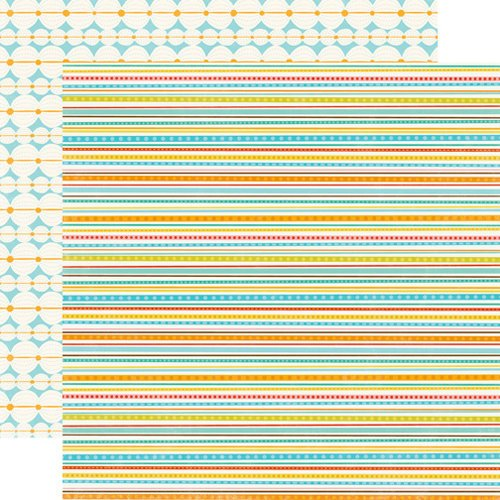 Echo Park - Splash Collection - 12 x 12 Double Sided Paper - Mini Stripes