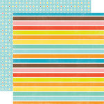Echo Park - Splash Collection - 12 x 12 Double Sided Paper - Big Stripes
