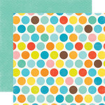 Echo Park - Splash Collection - 12 x 12 Double Sided Paper - Big Dots