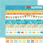 Echo Park - Splash Collection - 12 x 12 Double Sided Paper - Borders
