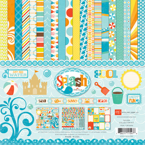 Echo Park - Splash Collection - 12 x 12 Collection Kit