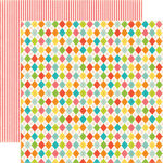 Echo Park - Sweet Summertime Collection - 12 x 12 Double Sided Paper - Summer Argyle, CLEARANCE