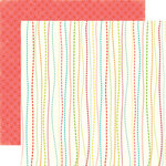 Echo Park - Sweet Summertime Collection - 12 x 12 Double Sided Paper - Whimsy Stripe, CLEARANCE