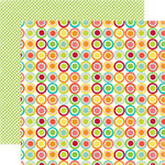 Echo Park - Sweet Summertime Collection - 12 x 12 Double Sided Paper - Citrus Circle, CLEARANCE