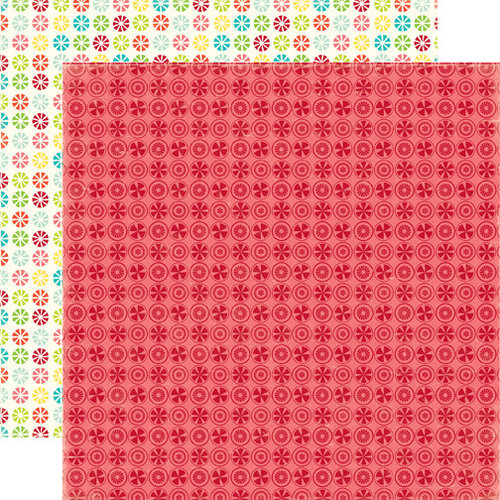 Echo Park - Sweet Summertime Collection - 12 x 12 Double Sided Paper - Raspberry Delight