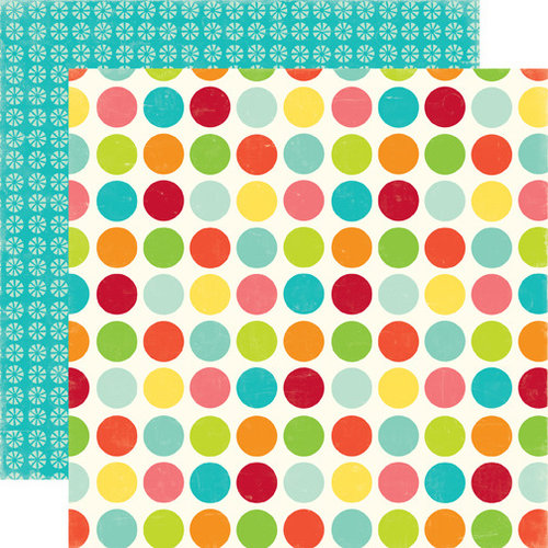 Echo Park - Sweet Summertime Collection - 12 x 12 Double Sided Paper - Happy Spots, CLEARANCE