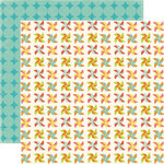 Echo Park - Sweet Summertime Collection - 12 x 12 Double Sided Paper - Pin Wheels, CLEARANCE
