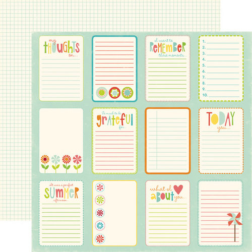 Echo Park - Sweet Summertime Collection - 12 x 12 Double Sided Paper - Journal Paper Card, CLEARANCE