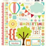 Echo Park - Sweet Summertime Collection - 12 x 12 Cardstock Stickers - Elements, CLEARANCE