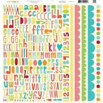 Echo Park - Sweet Summertime Collection - 12 x 12 Cardstock Stickers - Alphabet