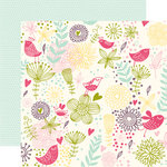 Echo Park - Springtime Collection - 12 x 12 Double Sided Paper - Spring Feathers