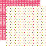 Echo Park - Springtime Collection - 12 x 12 Double Sided Paper - Colored Dots, CLEARANCE