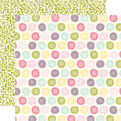 Echo Park - Springtime Collection - 12 x 12 Double Sided Paper - Blossoms, CLEARANCE