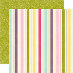 Echo Park - Springtime Collection - 12 x 12 Double Sided Paper - Seasonal Stripe, CLEARANCE