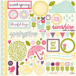 Echo Park - Springtime Collection - 12 x 12 Cardstock Stickers - Elements