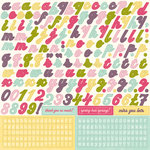Echo Park - Springtime Collection - 12 x 12 Cardstock Stickers - Alphabet