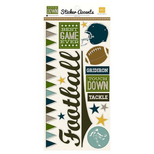 Echo Park - Touchdown Collection - Cardstock Stickers