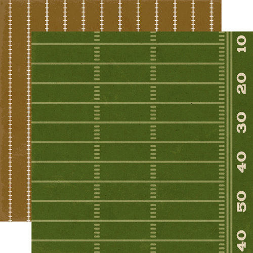 Echo Park - Touchdown Collection - 12 x 12 Double Sided Paper - Field
