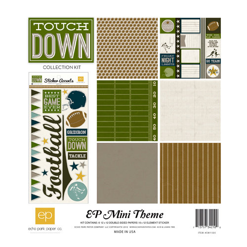 Echo Park - Touchdown Collection - 12 x 12 Collection Kit